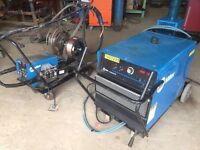 Miller MIG Welder 3 phase 852amp dual wire feed and water cooled for pipe work fabrication Structual