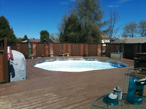 Decking/Fencing for 24Ft. pool area for sale