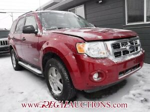 2008 FORD ESCAPE XLT 4D UTILITY AWD