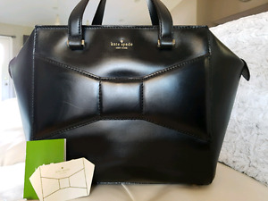 Large black Kate spade beau bag handbag purse
