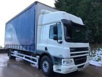 2012 12 DAF CF 75.310 euro 5 space cab double sleeper 26ft8 curtainsider