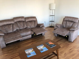 Recliner sofa + chair for Sale! Need to go before Jan 28th!