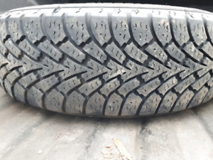 Four 205 60 16 Goodyear Nordic Winter on Rims