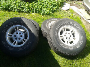 dodge Dakota rims and tires winter and summers and GMC tires
