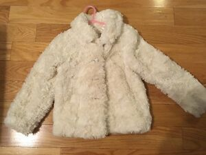 Child's White fur coat