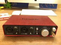 Focusrite Scarlet 2i2 sound card/interface