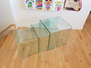 Nesting glass tables