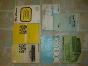 Automotive owners hand books