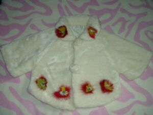 4T Girls --- Faux-fur Coat with padded lining