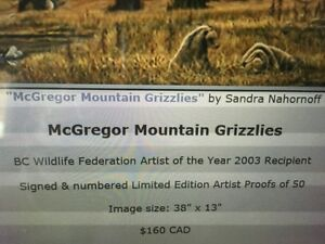 Mcgregor mountain Grizzlies print Prince George British Columbia image 3