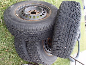 Tire on rims winter