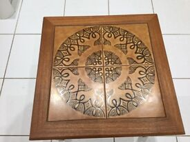 Danish tile topped table.