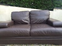 Italian leather brown sofa. Delivery