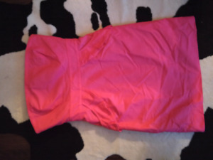 J crew pink strapless dress size 2 with pockets