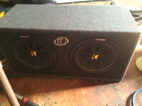 """12"""" Kicker Subwoofer and amp 500 OBO"""