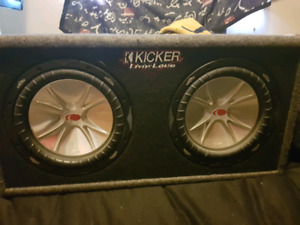 """10"""" subs in box with amp"""