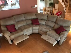 Canapé sofa Elran 5 places inclinable, modulable & sectionnel