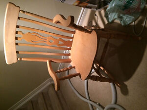 Solid wood (beech) rocking chair