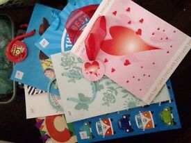 Birthday gift bags &birthday cards 20p each