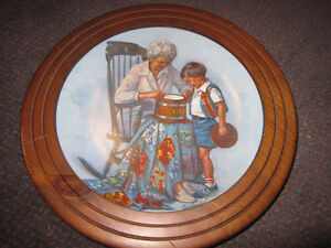 "Sandra Kuck ""Grandma's Cookie Jar"" Decorative Plate, Framed"