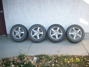 Set of 4 winter tires on Alloy rims