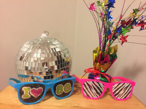 80s themed party decorations