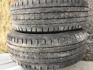 2x Hiver LT 245/70R17 10ply Firestone Winterforce LT