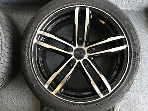 """Core Racing Aluminum wheels 17"""" with Tires"""