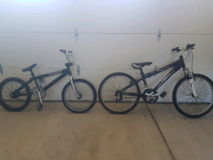 BMX and Junior mountain bike