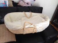 Perfect condition Moses basket