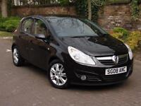 EXCELLENT EXAMPLE!!! 2008 VAUXHALL CORSA 1.2 i 16v Design 5dr (a/c) HALF LEATHER