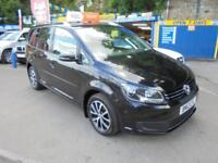 2012 VOLKSWAGEN TOURAN 2.0 TDI SE 140 IN BLACK # 47000 MLS 2 OWNERS #