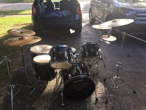 Black And Chrome Tama 6 Piece Drum Kit