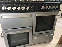 Black & Silver Flavel 100 Range Cooker, GWC