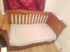 Mamas and papas Solid Oak Cot bed