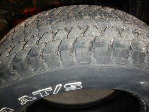 four used goodyear tires