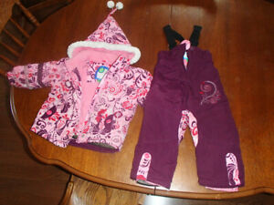 2T girls snow suit (jacket and pants)