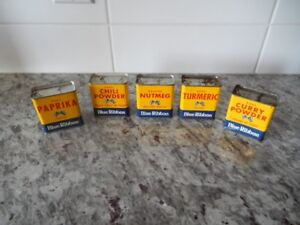 *Vintage* Blue Ribbon Spice Containers