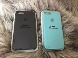 Apple silicone case for iPhones 7 ( Sea Blue , Cocoa ) £20 each '