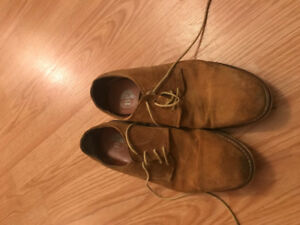 Camel Suede Mens Browns Shoes
