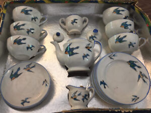 Antique Children's China Tea Set - made in Japan