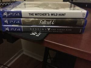 Fallout 4, The Witcher 3, Destiny: Taken King