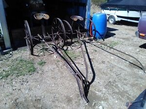 steel wheeled horse cart