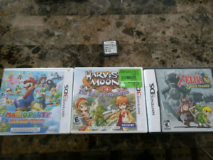 Nintendo 3DS / DS games (Harvest Moon/Zelda/007)