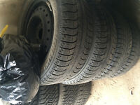 205/55r16 VW Jetta Michelin x-ice winter tires&rims 2006