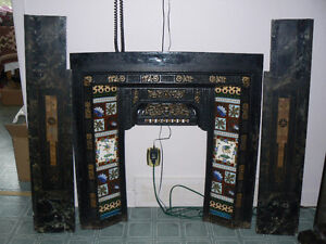 Antique Marble and Cast-iron Fireplace surround West Island Greater Montréal image 10