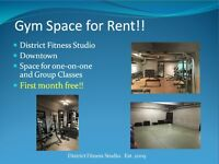 Gym Space for Rent - First Month Free