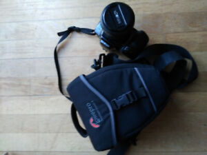 Lowepro Camera Bag and Minolta 35mm Camera