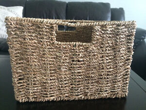 Set of 5 Woven Natural Colored Baskets Windsor Region Ontario image 1