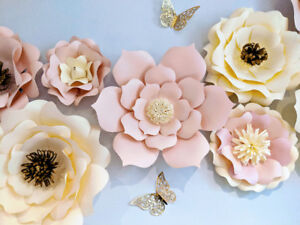 Large Paper Blooms For Your Special Event !